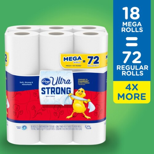 Kroger® Ultra-Strong Mega Bath Tissue Perspective: top