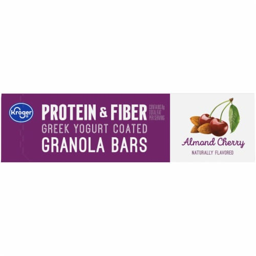 Kroger® Protein & Fiber Almond Cherry Greek Yogurt Coated Granola Bars (5 Pack) Perspective: top