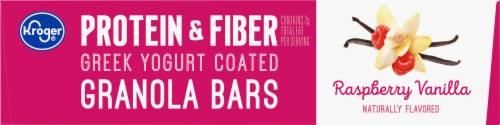 Kroger® Protein & Fiber Raspberry Vanilla Greek Yogurt Coated Granola Bars Perspective: top