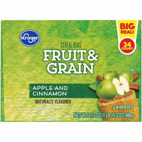 Kroger® Fruit & Grain Apple and Cinnamon Cereal Bars Perspective: top