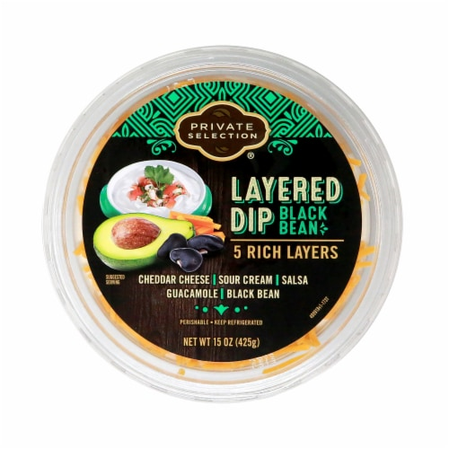 Private Selection® Black Bean Layered Dip Perspective: top