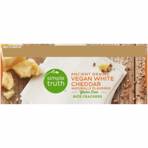 Simple Truth® Ancient Grains Vegan White Cheddar Rice Crackers Perspective: top