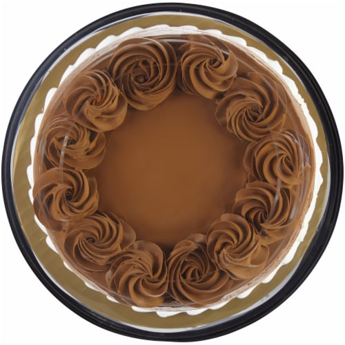 Bakery Fresh Goodness Triple Layer Marble Ombre Cake with Whipped Icing Perspective: top