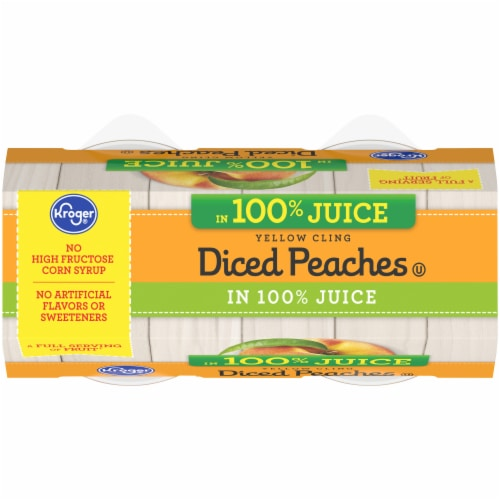 Kroger® Yellow Cling Diced Peach Cups Perspective: top