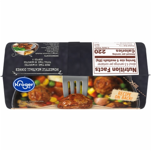 Kroger® Flame Broiled Homestyle Meatballs Perspective: top