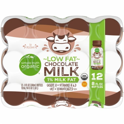 Simple Truth Organic® Low Fat Chocolate Milk Perspective: top