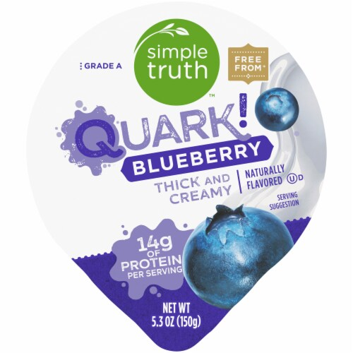 Simple Truth™ Quark! Blueberry Yogurt Perspective: top