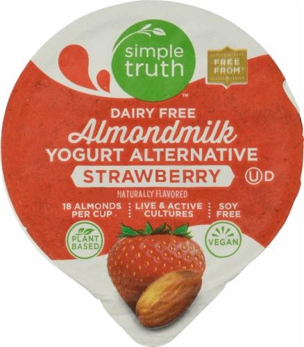 Simple Truth™ Dairy Free Almondmilk Strawberry Yogurt Alternative Perspective: top