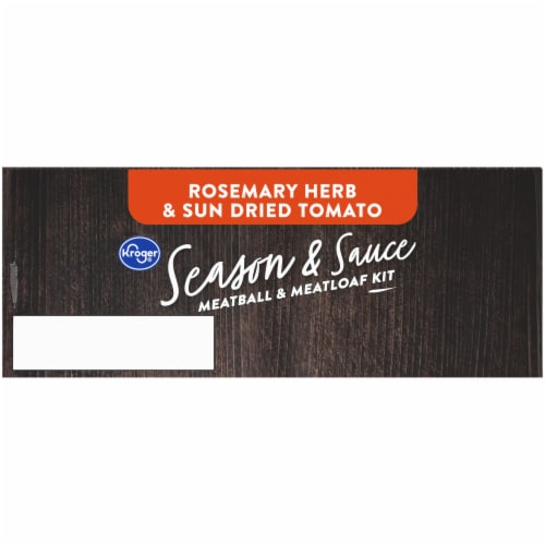 Kroger® Season & Sauce Rosemary Herb & Sun Dried Tomato Meatball & Meatloaf Kit Perspective: top