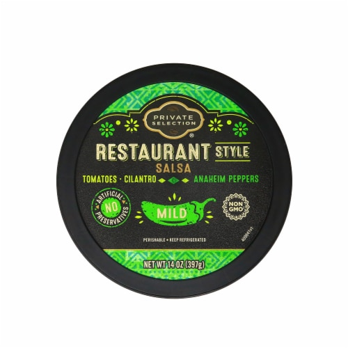 Private Selection® Mild Restaurant Style Salsa Perspective: top