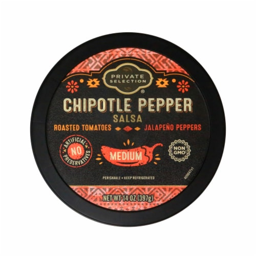 Private Selection® Medium Chipotle Pepper Salsa Perspective: top