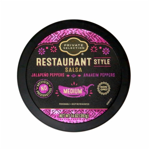 Private Selection® Medium Restaurant Style Salsa Perspective: top