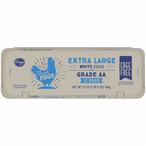 Kroger® Extra Large Grade AA White Eggs Perspective: top