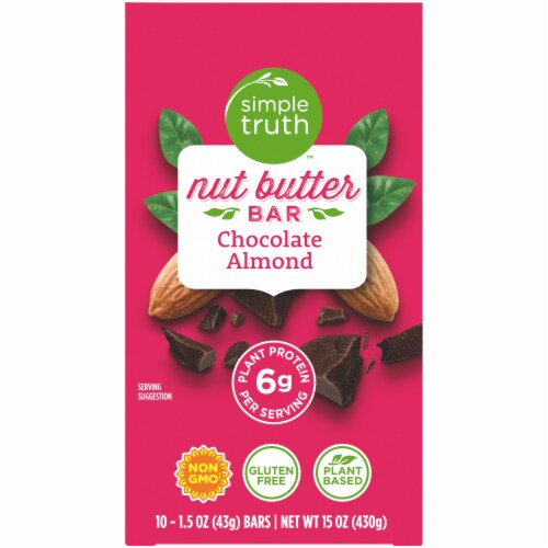 Simple Truth™ Chocolate Almond Nut Butter Bars Perspective: top