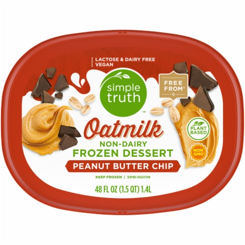 Simple Truth™ Peanut Butter Cup Oatmilk Non-Dairy Frozen Dessert Perspective: top