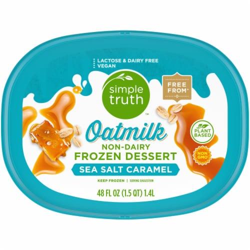 Simple Truth™ Sea Salt Caramel Oatmilk Non-Dairy Frozen Dessert Perspective: top