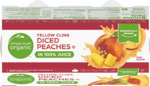 Simple Truth Organic™ Yellow Cling Diced Peaches Perspective: top