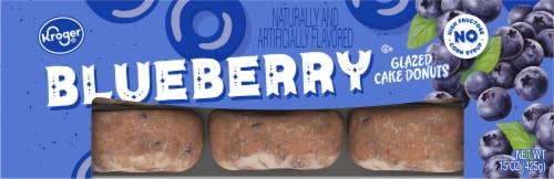 Kroger® Blueberry Glazed Cake Donuts Perspective: top