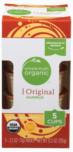 Simple Truth Organic™ Original Hummus Cups Perspective: top