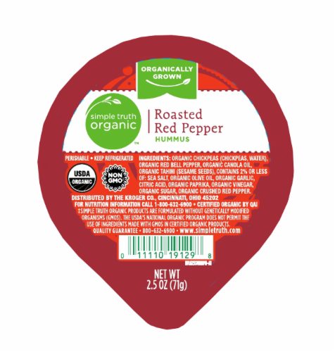 Simple Truth Organic™ Single Roasted Red Pepper Hummus Perspective: top