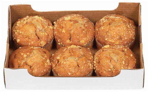 Bakery Fresh Goodness Jumbo Banana Nut Muffins Perspective: top
