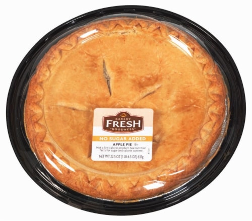 Bakery Fresh Goodness No Sugar Added Apple Pie Perspective: top