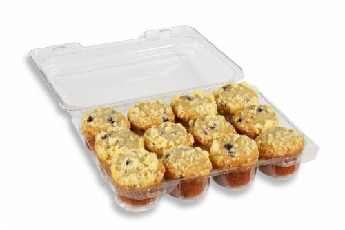 Bakery Fresh Goodness Mini Blueberry Muffins Perspective: top