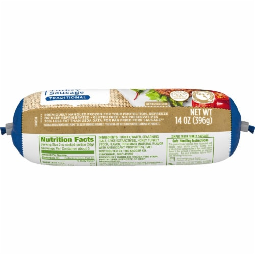 Simple Truth™ Traditional Turkey Sausage Perspective: top