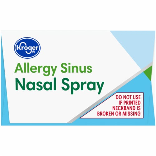 Kroger®  Allergy Sinus Nasal Spray Perspective: top