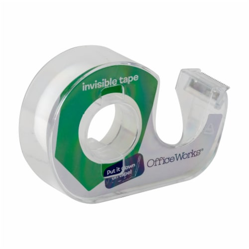 Office Works Invisible Tape - 3 Pack - Clear Perspective: top