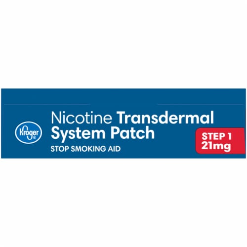 Kroger® Step 1 Stop Smoking Aid Nicotine Transdermal System 21mg Patches Perspective: top