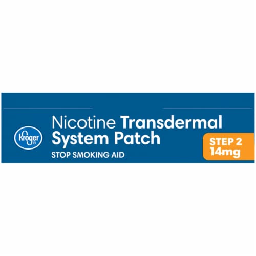 Kroger® Step 2 Stop Smoking Aid Nicotine Transdermal System Patches Perspective: top