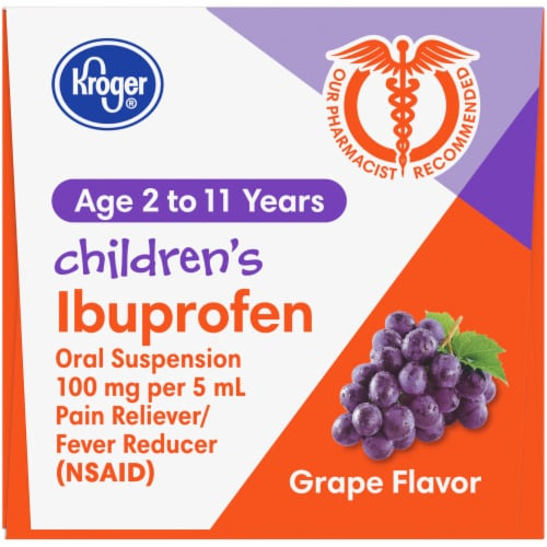 Kroger® Children's Ibuprofen Grape Oral Suspension Liquid Perspective: top