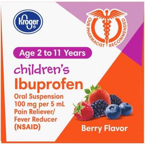 Kroger® Berry Flavor Children's Ibuprofen Perspective: top