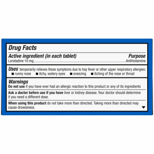 Kroger® Non-Drowsy Allergy Relief Loratadine Tablets Perspective: top