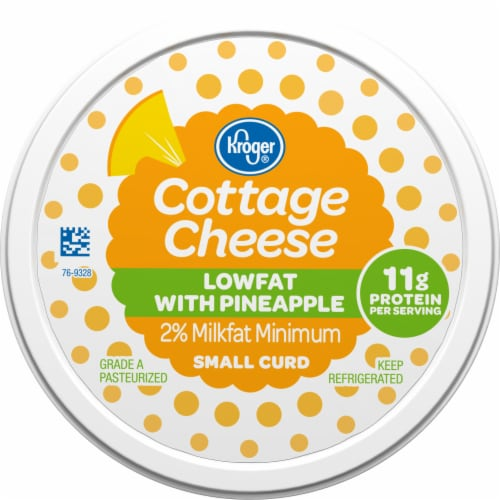 Kroger® Low Fat Pineapple Small Curd Cottage Cheese Perspective: top