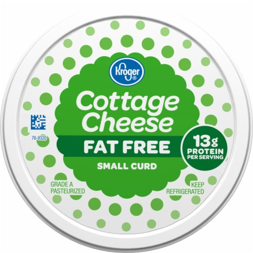 Kroger® Small Curd Fat Free Cottage Cheese Perspective: top