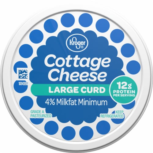 Kroger®  4% Milkfat Large Curd Cottage Cheese Perspective: top
