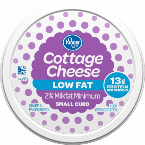 Kroger® 2% Lowfat Small Curd Cottage Cheese Perspective: top