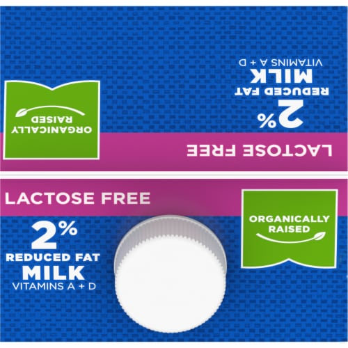 Simple Truth Organic® Lactose Free 2% Reduced Fat Milk Perspective: top
