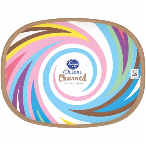 Kroger® Deluxe Churned Lactose Free No Sugar Added Reduced Fat Rocky Road Ice Cream Perspective: top