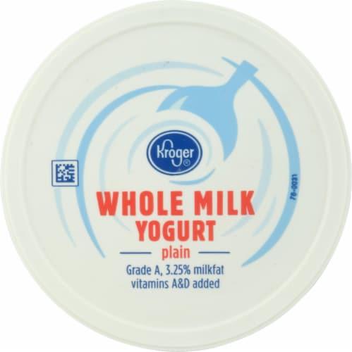 Kroger® Whole Milk Plain Yogurt Perspective: top