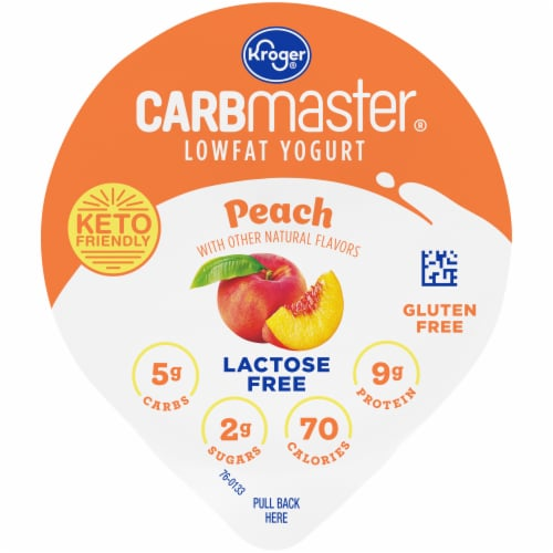 Kroger® CarbMaster® Peach Cultured Dairy Blend Perspective: top