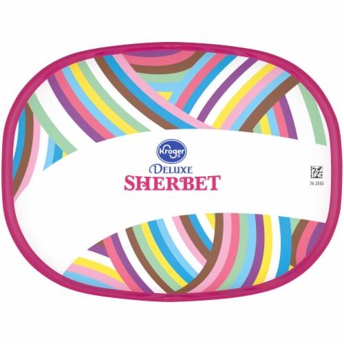 Kroger® Deluxe Low Fat Rainbow Sherbet Perspective: top
