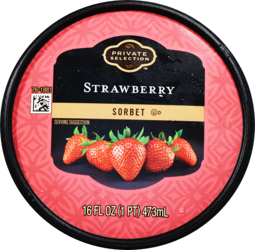 Private Selection™ Strawberry Sorbet Perspective: top