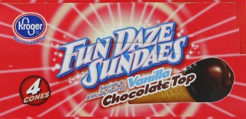Kroger® Fun Daze Sundaes Vanilla Chocolate Top Perspective: top