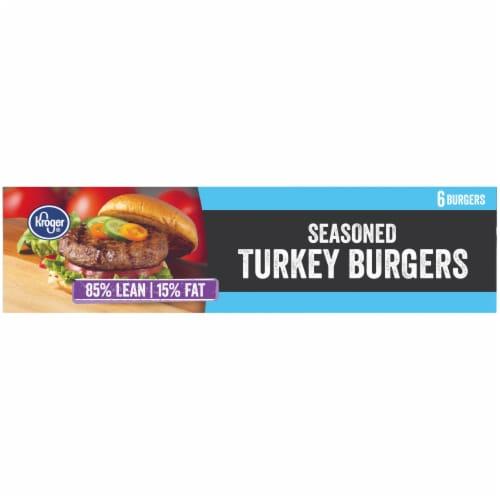 Kroger® 85% Lean Seasoned Turkey Burgers Perspective: top