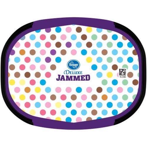 Kroger® Deluxe Jammed Peanut Butter & Jelly Ice Cream Perspective: top