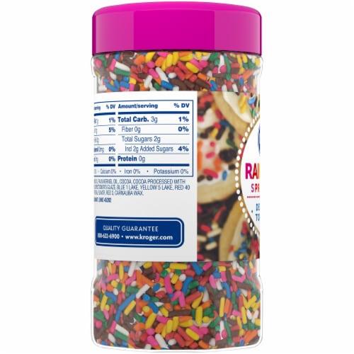 Kroger® Rainbow Sprinkles Dessert Topping Perspective: top