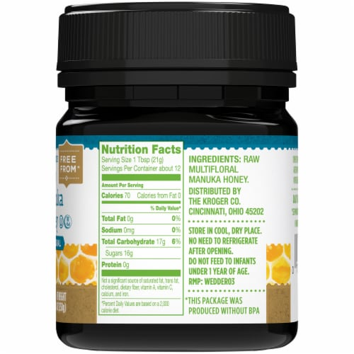 Simple Truth® Multifloral Raw Manuka Honey Perspective: top